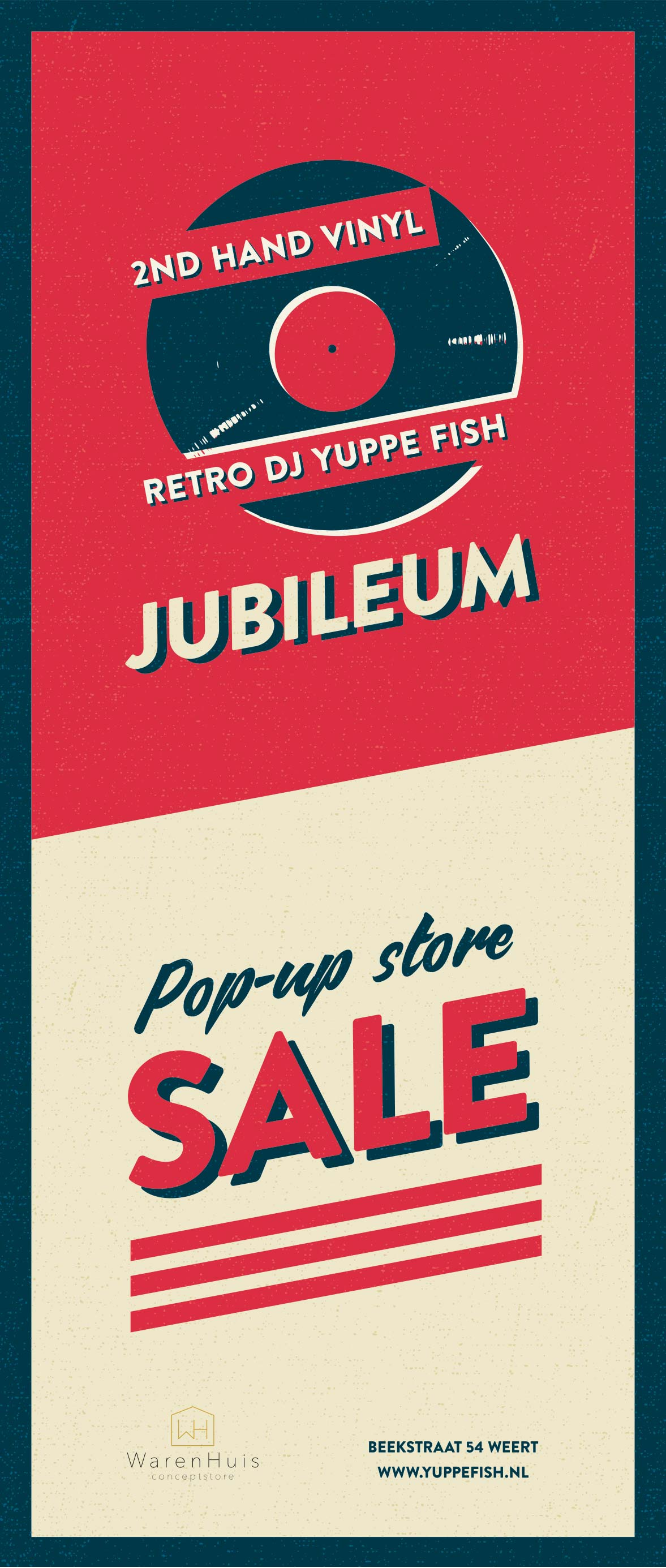 Jubileum Retro DJ Yuppe Fish tweedehands lp's.